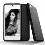 Роскошные элегантные Высокое качество углеродного волокна Мягкий чехол для iPhone 5 5S SE Кожа 3D текстура Шин Защитник чехол для iPhone SE