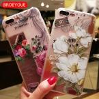 Чехол для Телефона iPhone 7 6 6S 6 7 Plus 5S 5 SE крышка для Samsung Galaxy S8 S7 край плюс узор ТПУ 3D рельеф Анималистическая чехол телефона