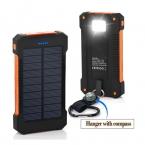Power Bank 20000 мАч Солнечный Зарядное устройство Портативный Dual USB Солнечное Запасные Аккумуляторы для телефонов на открытом воздухе аварийного Внешняя Батарея для мобильного телефона