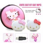 Модные Мини Рисунок «Hello Kitty» MP3 музыкальный плеер Поддержка TF карты Мини Clip MP3-плееры   рисунок «Hello Kitty» наушники   Mini USB   Hello kitty Сумка