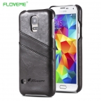 Для S5 Брендовый Роскошный Бизнесный Чехол Из Кожи Для Сансунг Гелакси Samsung Galaxy S5 I9600 Телефонная Защитная Задняя Крышка Со Слотом Карт Высокое Качество