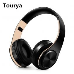 Tourya b7 Беспроводной наушники гарнитура Bluetooth складные наушники Регулируемый Наушники С микрофоном для ПК мобильного телефона MP3