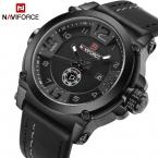 Naviforce Топ Элитный бренд Для мужчин спортивные Военная Униформа кварцевые часы Человек Аналоговые Дата часы кожаный ремешок наручные часы Relogio Masculino