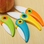 Мини-птица Керамика Ножи подарок Ножи карман Керамика складной Ножи для шашлыков Кухня кожура фруктов Ножи с красочные ABS ручкой