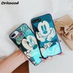 Гальванизирует синий свет мягкий чехол для телефона IPhone X 6 6S 7 8 мультфильм Минни Микки Мышь чехол для телефона iPhone 6 6S 7 8 плюс для чехол на айфон 7 для чехол на айфон 6 для чехол на айфон 6S